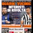 Vucinic-Guarin, la rivolta dei tifosi dell'Inter sulle prime pagine dei giornali 01