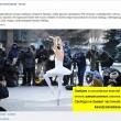 Mosca, Aleksandra Portiannikova danza a -20 contro Putin01