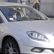 Enrico Letta lascia Montecitorio a bordo della sua auto02