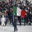 Sochi: sfila l'Italia, tanti tricolori e Letta saluta01