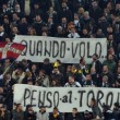 Juve-Torino, striscioni su Superga