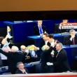 Protesta Lega Nord in Parlamento Ue