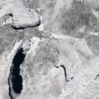 Un vortice polare si abbatte sugli Usa: i Grandi Laghi, dalla foto scattata dai satelliti della Nasa, appaiono quasi completamente ghiacchiati (Nasa)