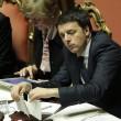 Matteo Renzi in Senato, tra foglietti e pennarelli 2