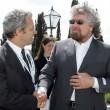 Enrico Mentana e Beppe Grillo in una foto del 2