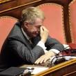 Senatore D'Ascola (Ncd) si addormenta in Senato durante discussione Def03