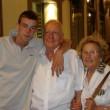 Lorenzo Manavella, 25 anni, con Tullio Manavella e la la moglie Pina Bono (foto Facebook)