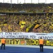 Borussia, Bayern ed Hertha Berlino striscione Speziale libero04