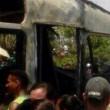 Colombia, scuolabus in fiamme4