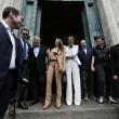 Francesca Pascale al seggio elettorale le carezze a Dudino07