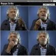 Beppe Grillo prende un Maalox dopo il risultato di M5s alle europee