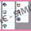 Elezioni Europee 2014: fac simile della scheda elettorale delle 5 circoscrizioni