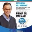 """Manifesti elettorali: Magdi Allam anti stranieri e """"Vota uno come te. Finocchio"""""""