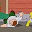 Scazzottata tra Homer e Peter