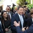 Matteo Renzi in visita alla scuola elementare G.Parini a Secondigliano