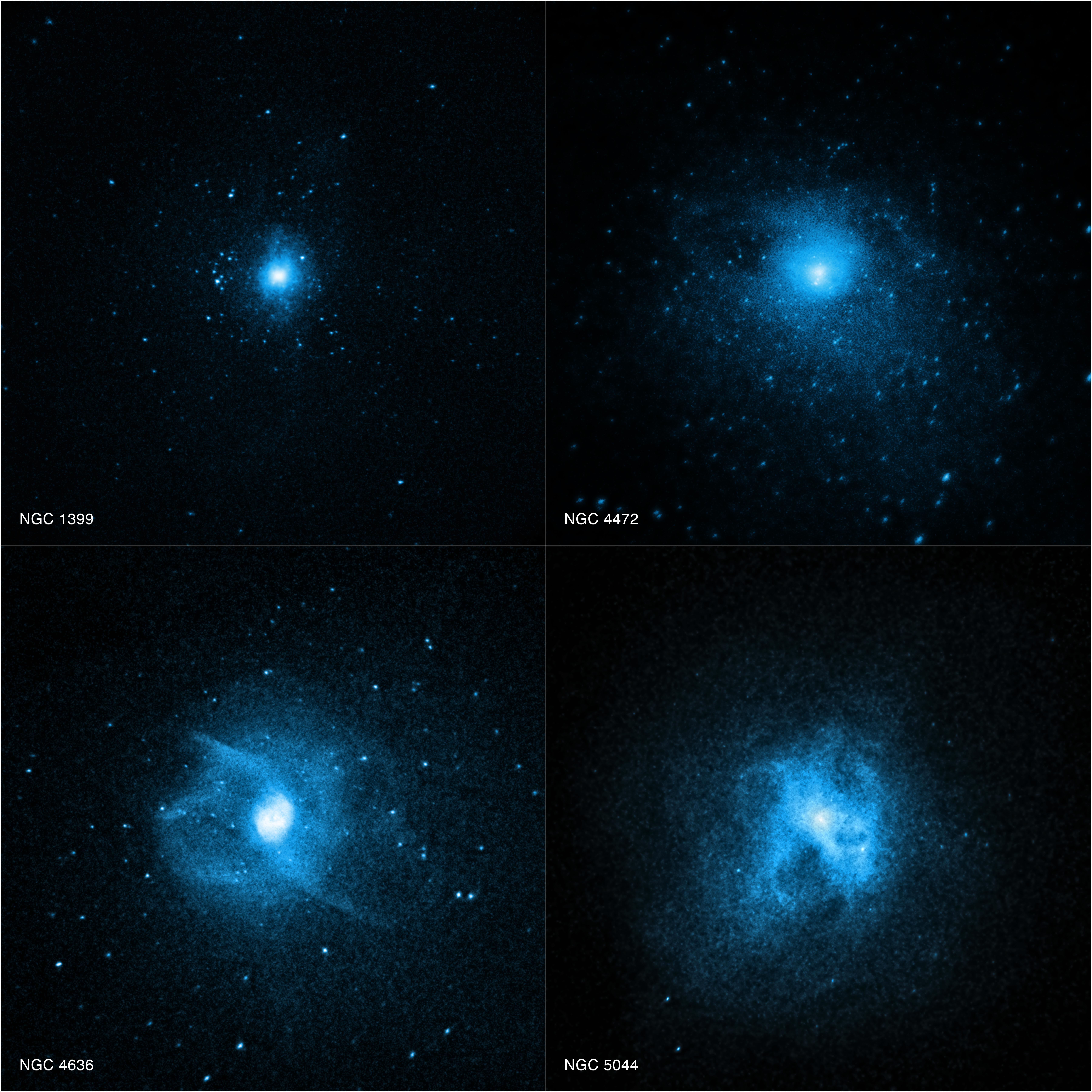 Chandra, foto scontro ammassi galassie