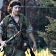 Justin Burque vestito da Rambo
