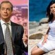 Annabelle Fuller e Nigel Farage
