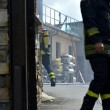 Roma, via di Vigna Murata: deposito edile in fiamme07