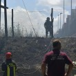 Roma, via di Vigna Murata: deposito edile in fiamme33