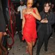 Rihanna, seno in vista in discoteca: il vestito è trasparente15