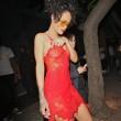 Rihanna, seno in vista in discoteca: il vestito è trasparente07