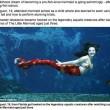 Andrea Liguori, la sirena della Florida: finta coda e ore di nuoto FOTO 2