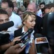 Francesca Pascale a Napoli per ritirare la tessera Arcigay21