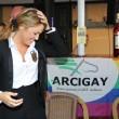 Francesca Pascale a Napoli per ritirare la tessera Arcigay19