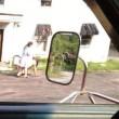 Porta al guinzaglio il marito nudo per strada FOTO 1