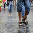 Maltempo Roma: violento nubifragio allaga sottovia05