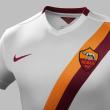 Roma, maglia da trasferta: bianca con banda giallorossa diagonale 2