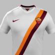 Roma, maglia da trasferta: bianca con banda giallorossa diagonale 3