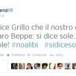 "Matteo Renzi a Beppe Grillo: ""#sidicesole"". Giorgia Meloni: ""#sidicesola"""
