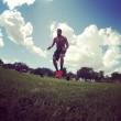 Marco Belinelli si allena trascinando auto e sollevando pneumatici FOTO 3