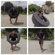 Marco Belinelli si allena trascinando auto e sollevando pneumatici FOTO 5