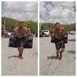 Marco Belinelli si allena trascinando auto e sollevando pneumatici FOTO 6