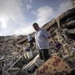 Gaza, il crollo del palazzo di 12 piani abbattuto dai missili israeliani07