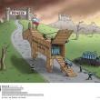 Ucraina, ironia su Twitter: convoglio di aiuti russi come cavalli di Troia FOTO5