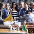 George Clooney e Amal Alamuddin sul Canal Grande di Venezia24