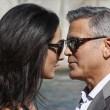 George Clooney e Amal Alamuddin sul Canal Grande di Venezia1221