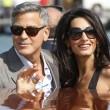 George Clooney e Amal Alamuddin sul Canal Grande di Venezia8