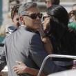 George Clooney e Amal Alamuddin sul Canal Grande di Venezia08