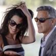 George Clooney e Amal Alamuddin sul Canal Grande di Venezia05