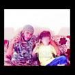 Erion Zena (8 anni) con il padre Arben, miliziano dell'Isis in Siria