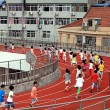 Cina, pista d'atletica sul tetto della scuola04