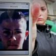 apoli, ignora l'alt. Carabiniere uccide 17enne. Folla distrugge auto polizia05