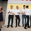 La nuova sinistra europea in camicia bianca sul palco809
