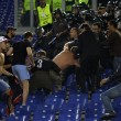 Roma-Cska, 15 tifosi russi fermati per aggressione steward (FOTO)