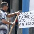 Venezia, striscione accoglie Clooney in comune5